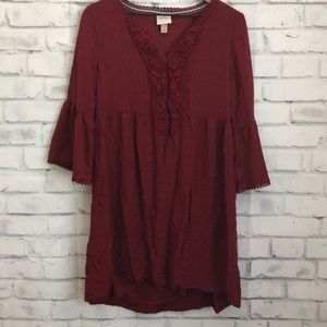 Knox Rose burgundy dress